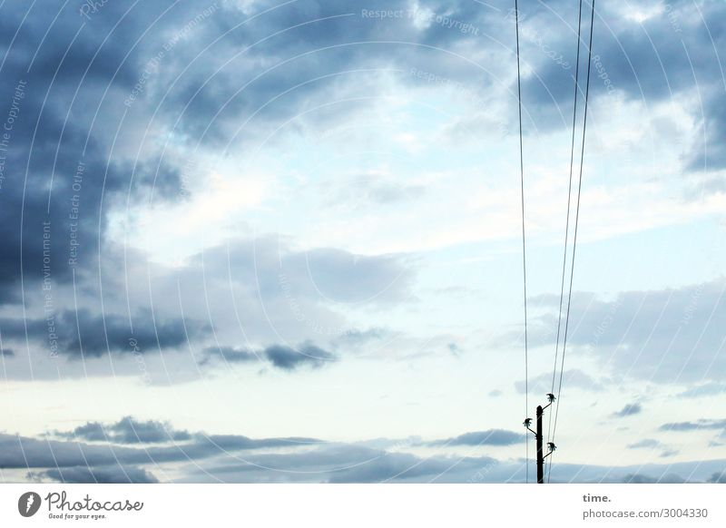 Sky Nature Blue Clouds Loneliness Calm Far-off places Lanes & trails Time Together Moody Communicate Air Energy industry Power Perspective
