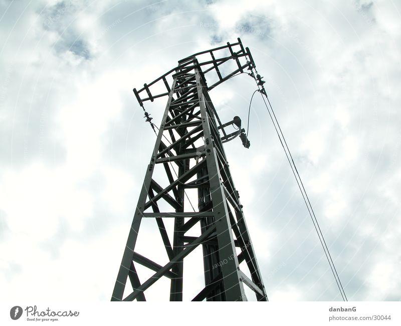 Büme of the modern age Electricity Electricity pylon Tree worm's-eye view Bird's-eye view