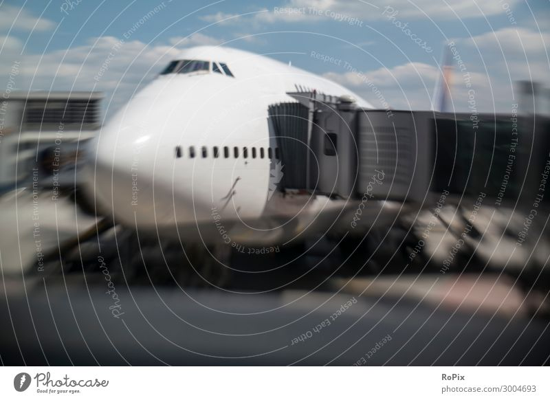 Abstract picture of an airliner at the gate. Lifestyle Luxury Vacation & Travel Tourism Trip Far-off places Summer vacation Workplace Economy Industry Trade