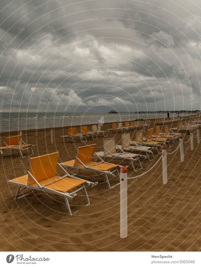 before the storm Lifestyle Vacation & Travel Tourism Summer vacation Sunbathing Beach Ocean Elements Sky Clouds Storm clouds Weather Bad weather Waves Coast
