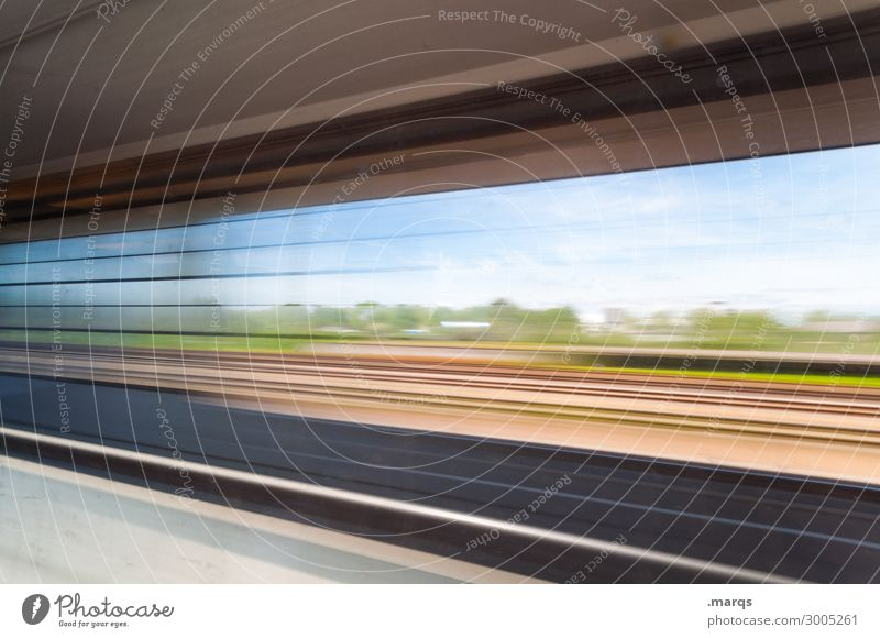 Journey Journey Vacation & Travel Trip Landscape Beautiful weather Window Transport Passenger traffic Train travel Rail transport Train compartment Driving