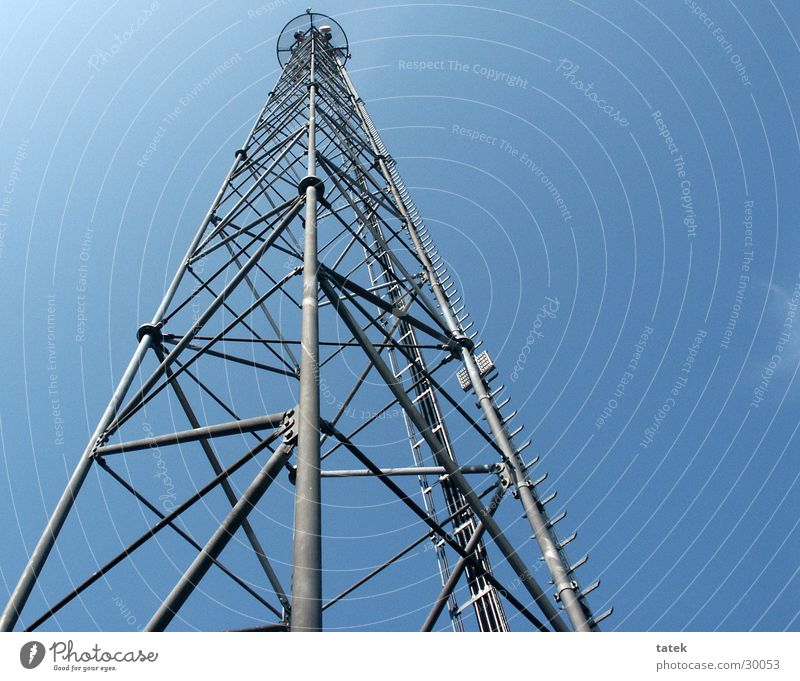 Perspective Industry Electricity pylon Aspire Telecommunications Broadcasting tower Clear sky
