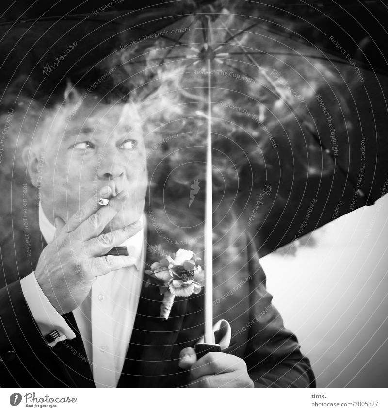 again, because it's so beautiful ... .) Masculine Man Adults 1 Human being Shirt Suit Jewellery Umbrellas & Shades Cigarette Observe Smoking Looking