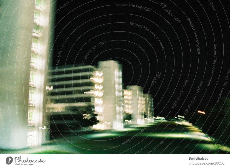 Gray Lighting Architecture Concrete Large Modern Night Tower High-tech Bielefeld Functionalism