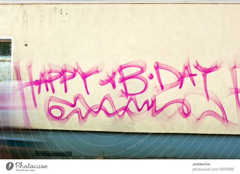 House (Residential Structure) Graffiti Wall (building) Copy Space Wall (barrier) Bicycle Birthday Cycling Speed Cycling tour Haste Desire Tagging (graffiti)
