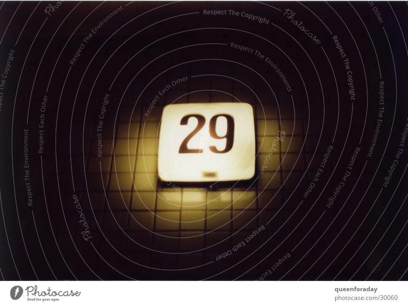29 House number Light Lighting Dark Things Tile