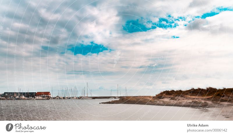 Port of Grenaa Wallpaper Environment Nature Landscape Water Sky Clouds Horizon Sunlight Waves Coast Beach Bay Baltic Sea Ocean Denmark Europe Fishing village