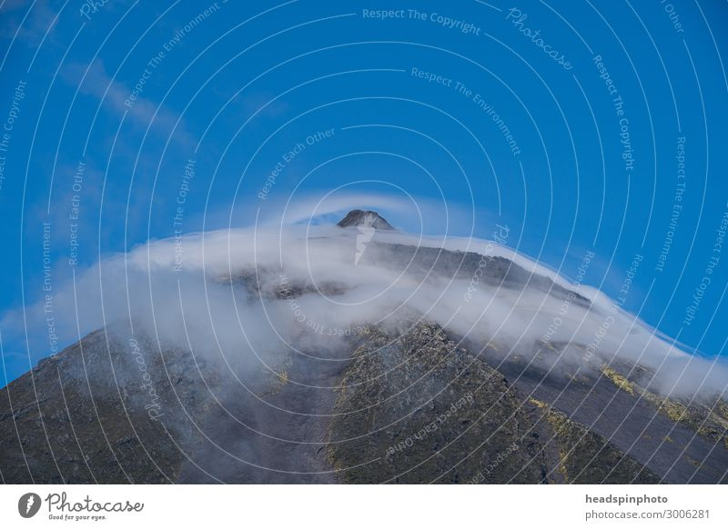 The summit of the volcano Pico with clouds, Pico, Azores Vacation & Travel Tourism Trip Adventure Far-off places Freedom Expedition Mountain Sports Climbing