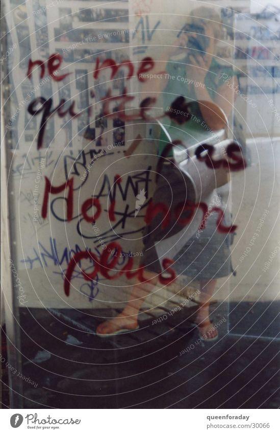 Woman Mirror Transparent Window pane Figure of speech
