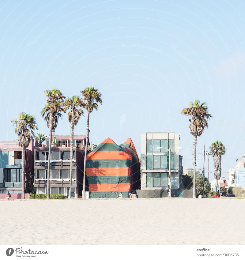 Around the World: Venice Beach Cloudless sky Beautiful weather House (Residential Structure) Detached house Dream house Facade Relaxation Vacation & Travel
