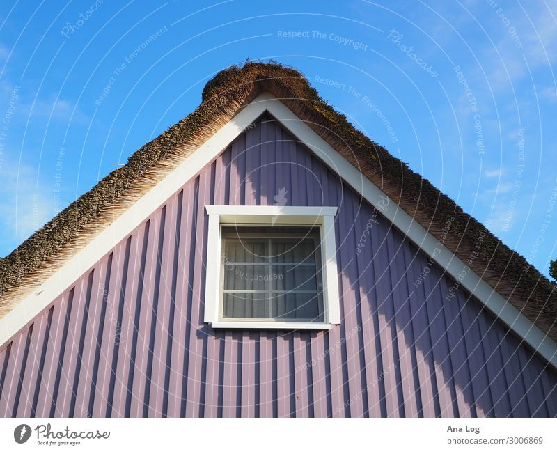 colour play Clouds Summer Zingst Germany Europe Village Deserted House (Residential Structure) Manmade structures Building Architecture Facade Window Roof