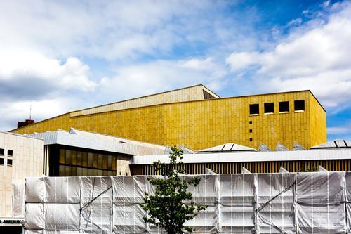 Architecture Berlin Art Tourism Copy Space Facade Music Culture Construction site Event Concert Library South America Covers (Construction) Bauhaus