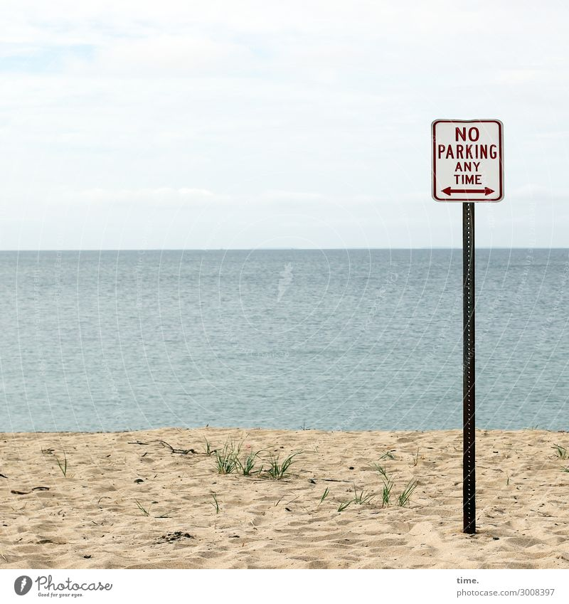 A question of price Environment Nature Landscape Water Sky Horizon Beautiful weather Coast Beach Ocean Transport Motoring Sign Characters Signs and labeling