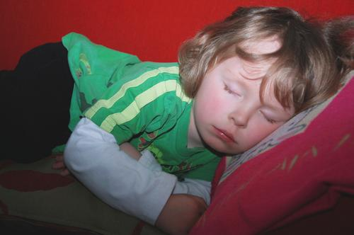 Small boy at nap time, only one hour short... Sofa Child Boy (child) Infancy 1 Human being 3 - 8 years Blonde Lie Sleep Dream Healthy Natural Cute Beautiful
