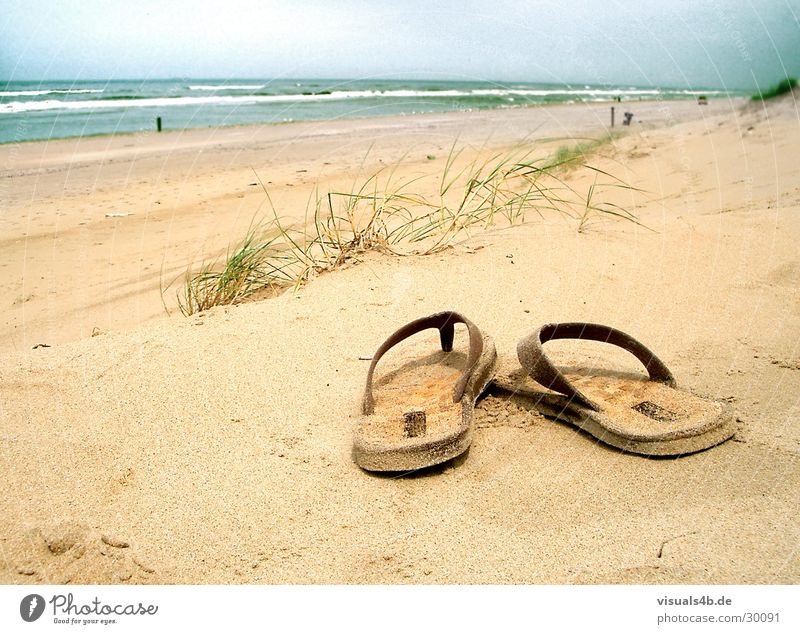 SUMMER DAY'S DREAM Beach Ocean Summer Flip-flops Brown Physics Waves Surf Grass Netherlands Yellow Bad weather Spain Tide Low tide Air Gale Leisure and hobbies