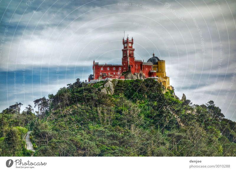 fairytale castle Vacation & Travel Trip Hiking Architecture Landscape Forest Hill Castle Lock Fairytale castle Colour photo Exterior shot