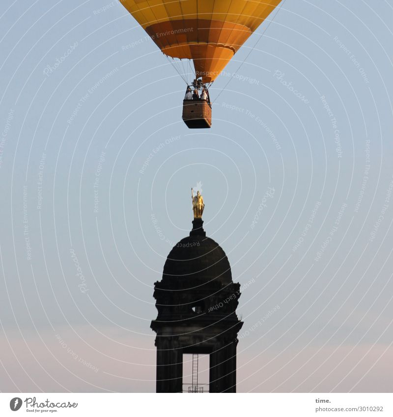 Human being Sky Vacation & Travel Life Movement Tourism Exceptional Flying Transport Beautiful weather Tall Observe Tower Tourist Attraction Landmark Driving