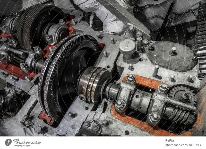 Opened gearbox in a historic ship. Old Environment Work and employment Design Metal Energy industry Technology Historic Industry Climate Posture Factory