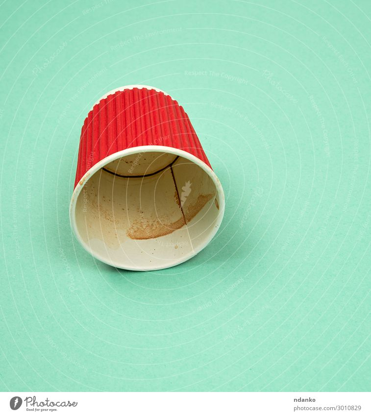 red paper cup with corrugated edges for hot drinks Colour Green Red Eating Pink Paper Coffee Clean Beverage New Hot Restaurant Café Tea Cardboard Container