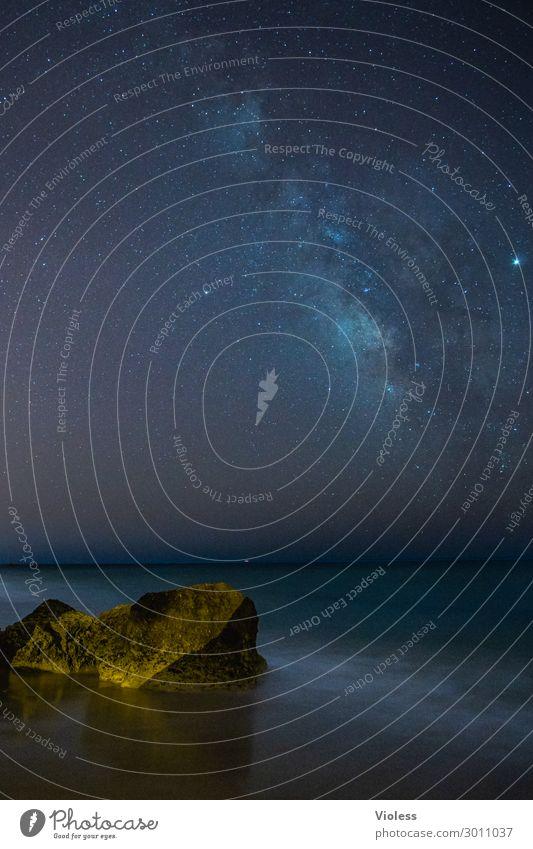 Sky Nature Landscape Ocean Beach Dark Coast Exceptional Earth Illuminate Dream Waves Glittering Fantastic Stars Observe