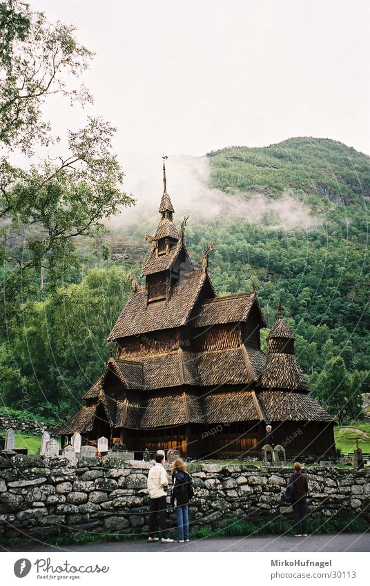 stave church Norway Vikings Scandinavia Leisure and hobbies Stave church wooden church Religion and faith