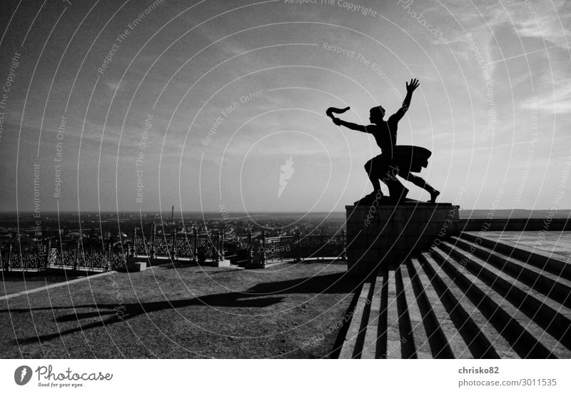 Youth (Young adults) Young man Art Freedom Masculine Power Culture Beginning Tourist Attraction Hope Attachment City trip Monument Sightseeing Brave Sculpture