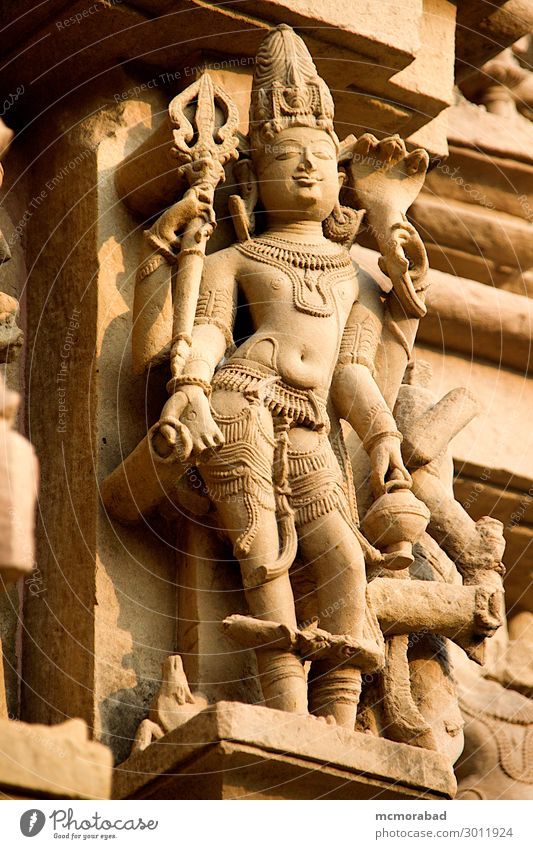 Stone Statue in Jain Temple, Khajuraho Craft (trade) Sculpture Architecture Manmade structures Historic Belief Religion and faith Sandstone Granite outer wall
