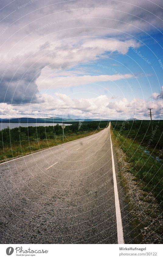 street to nowhere Finland Scandinavia Plain Street Sky Far-off places