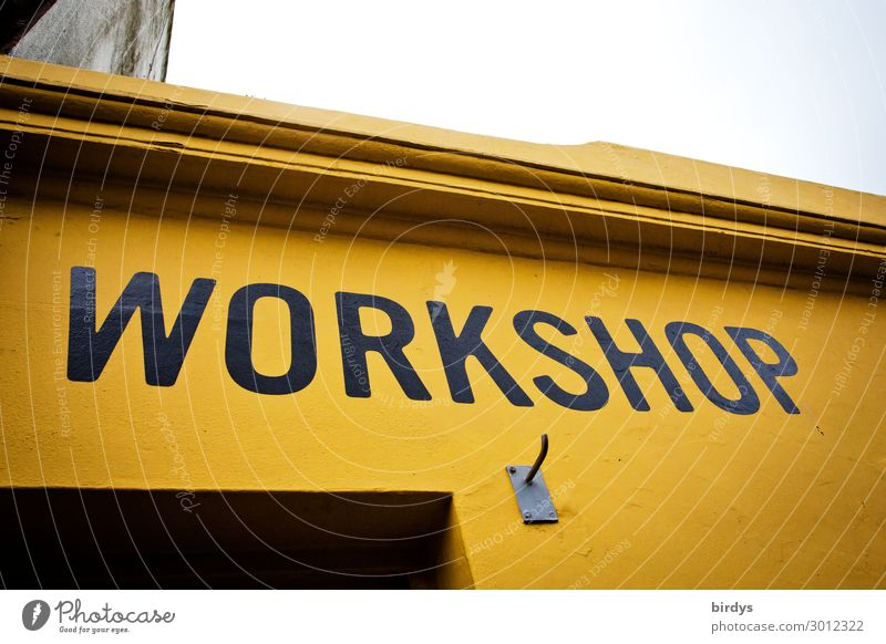 workshop Lifestyle Leisure and hobbies Education Adult Education House (Residential Structure) Facade Characters Study Make Authentic Uniqueness Positive Yellow
