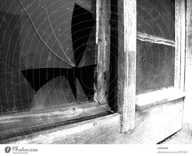 Old Window Glass Dirty Broken Putrefy Derelict Splinter of glass