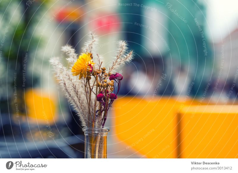 Bouquet on a table in an outdoor cafe Breakfast Design Beautiful Relaxation Vacation & Travel Tourism Summer House (Residential Structure) Decoration Furniture