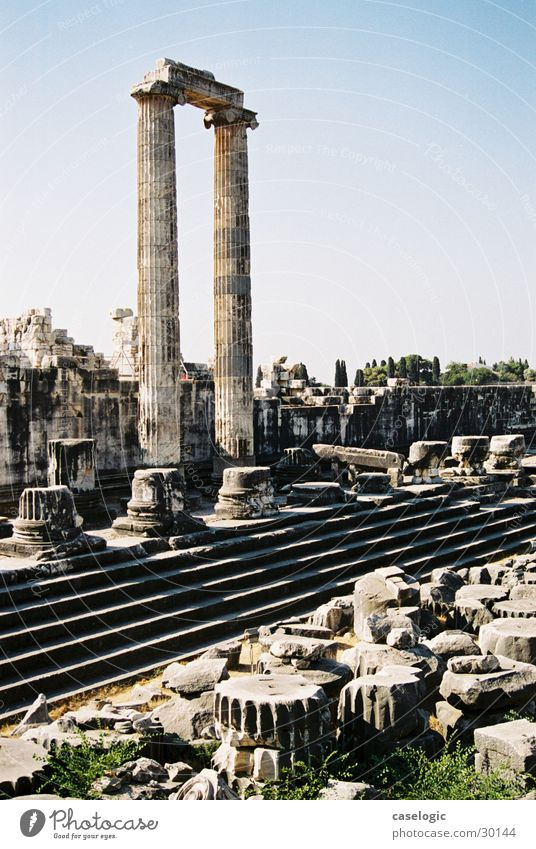 The ruin of Didima Temple Turkey Ruin Leisure and hobbies Column Stone