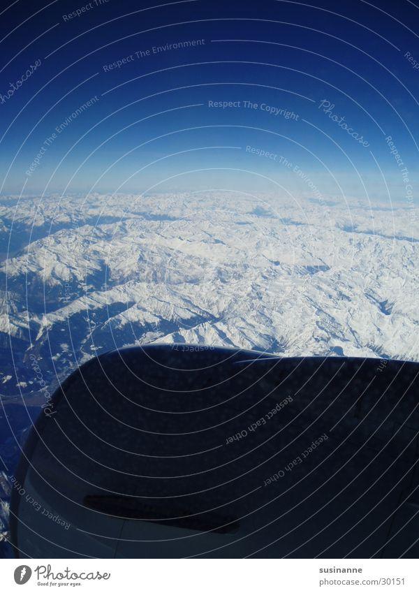 Sky Snow Window Mountain Airplane Aviation Vantage point Alps