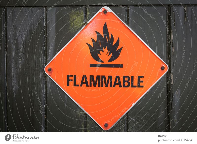 FLAMMABLE Nature Wood Wall (building) Environment Wall (barrier) Work and employment Design Signs and labeling Adventure Industry Climate Fire Harbour Risk