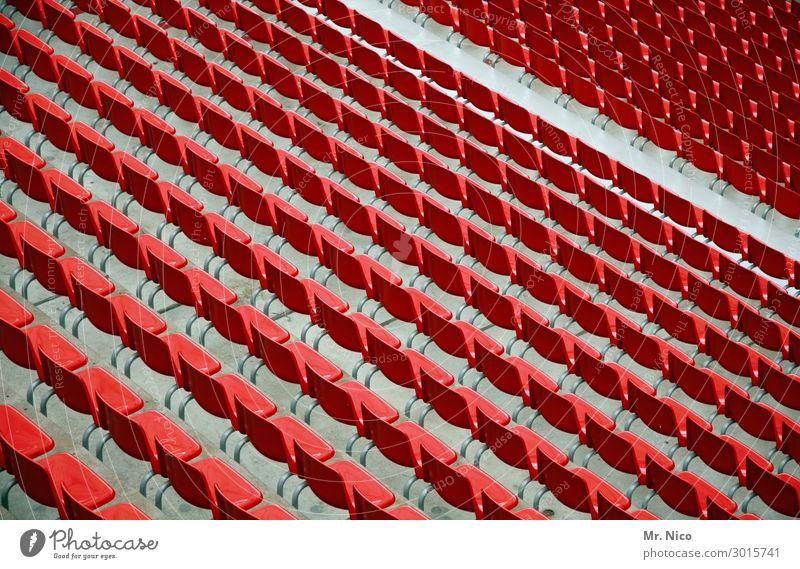 north curve Audience Stands Sporting Complex Sporting event Stadium Red Sit Side by side Seating capacity Places Sit down Leisure and hobbies Reserved Empty
