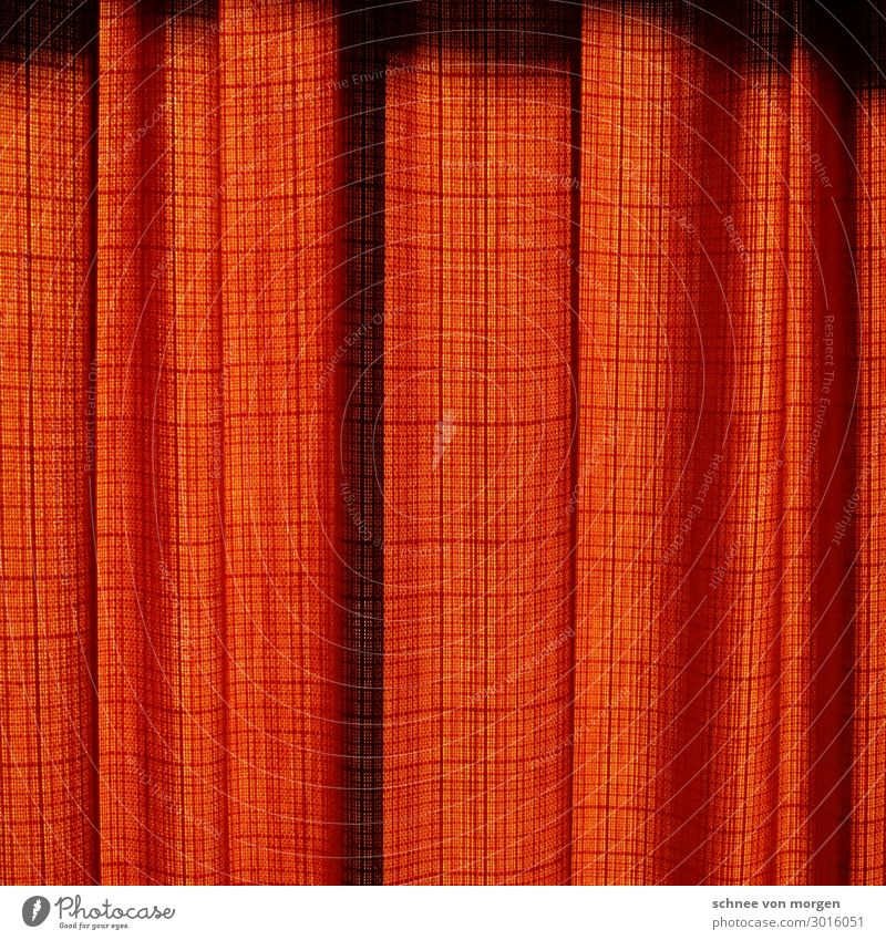 "Curtain closed Interior design Decoration Room Art Theatre Packaging Stripe To fall Design ""curtain Cloth Red crease too Cinema Closed End look"" Colour photo"