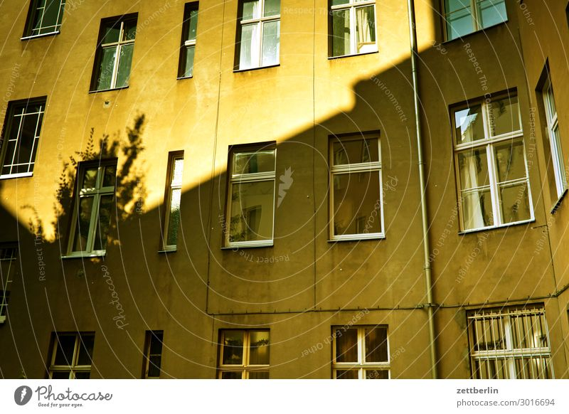 rear building Berlin Fire wall Facade Window House (Residential Structure) Behind Alley Rear view Backyard Courtyard Interior courtyard Downtown Wall (barrier)