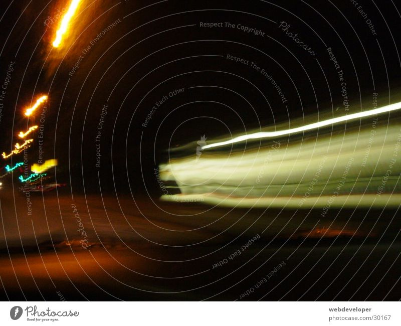 the fast and the furious Speed Long exposure Washed out Light Night Dark Bright