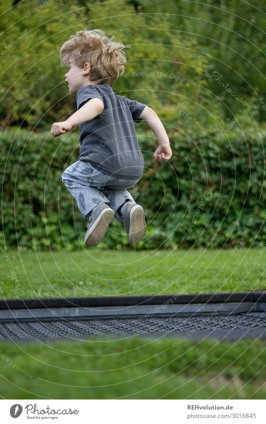 Child Human being Nature Joy Environment Natural Meadow Movement Happy Boy (child) Small Playing Flying Leisure and hobbies Jump Park