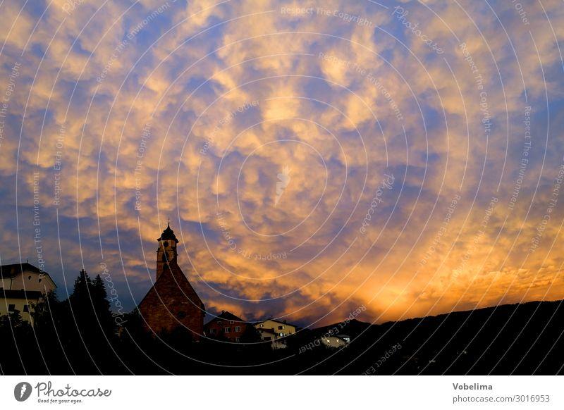 After a storm in Deutschnofen alto adige Germanofen latemar Mammaten mammatus Mammatus clouds Nova Ponente Clouds autonomous province mountain Mountain village