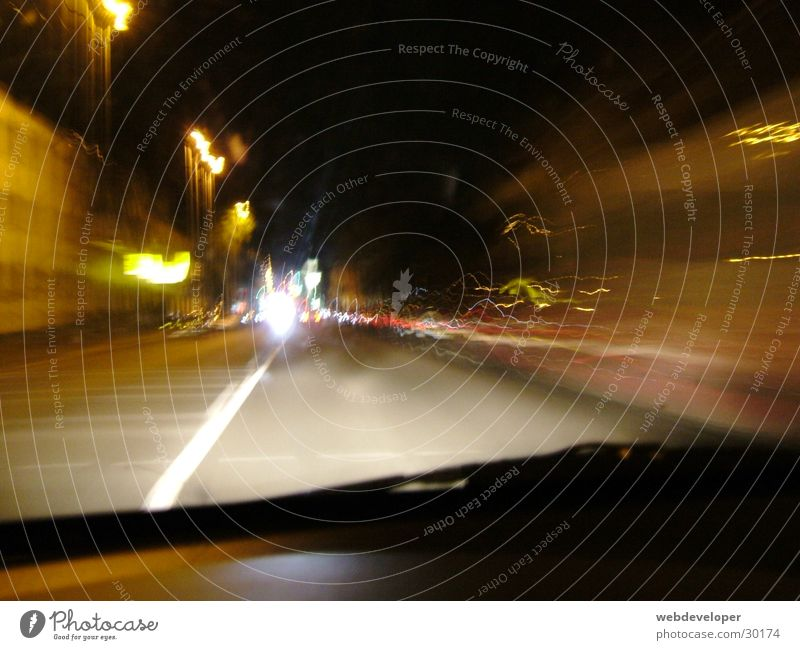 Highway to Hell Dark Night Speed Washed out Lamp Long exposure Street Light Movement vehicles