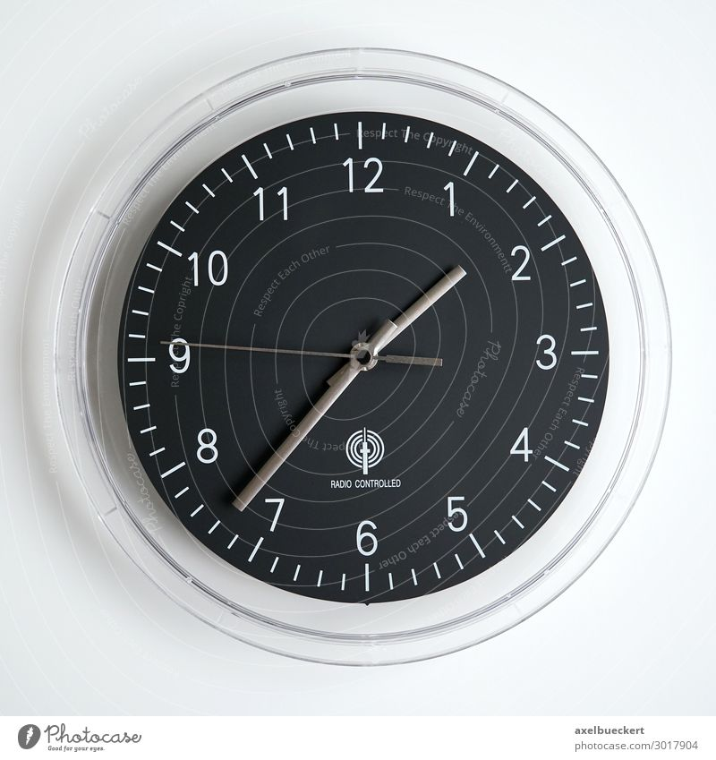 Black Time Clock Clock face Symbols and metaphors Analog Period of time Prompt Wall clock