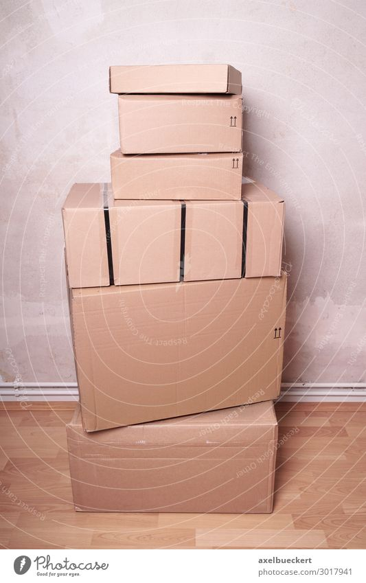 Package Stack Lifestyle Shopping Flat (apartment) Room Trade Logistics Business Cardboard Cardboard box Mail order selling Consumption Packaging material