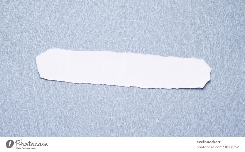empty paper strip on blue background Design Office Business Long Communication Background picture Blue White Paper Scrap of paper Stripe Empty Copy Space