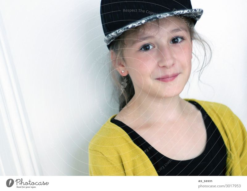 . Girl Infancy Youth (Young adults) Face 1 Human being 8 - 13 years Child Fashion Clothing Jacket Accessory Baseball cap Brunette Long-haired Looking Authentic