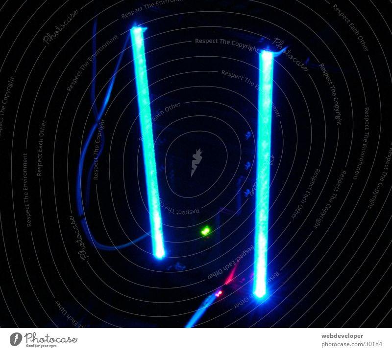 Blue Dark Bright Technology Neon light Flashy Electrical equipment Modding