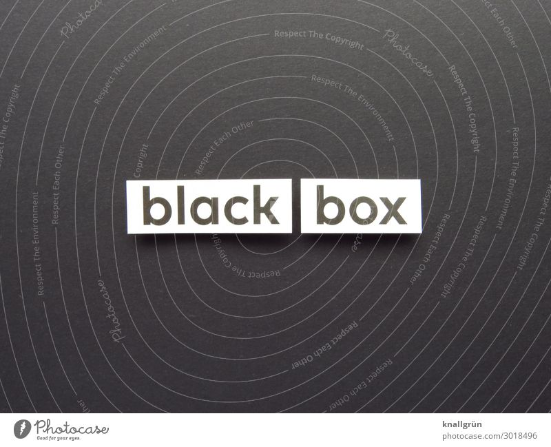 black box Characters Signs and labeling Communicate Black White Emotions Curiosity Interest Surprise Expectation Far-off places Anonymous Psychological disorder