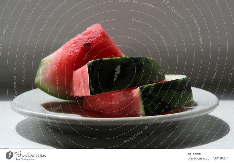 Melon slices on plate Fruit Water melon Melone slice Nutrition Eating Breakfast Lunch Dinner Buffet Brunch Vegetarian diet Fasting Italian Food Crockery Plate
