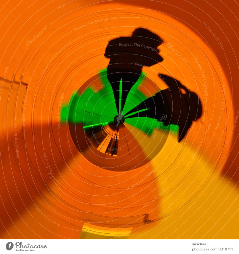 shadow watcher Human being Figure Silhouette Abstract Graphic small world tiny planet Round Circle Light Shadow Art little planet Bend Center point Concentric