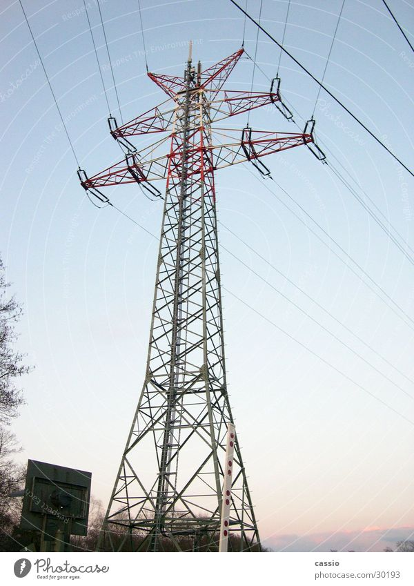 Industry Energy industry Electricity Steel Electricity pylon Transmission lines Railroad crossing